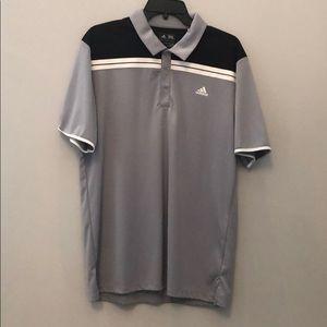 Adidas Golf Medium Gray Golf Polo